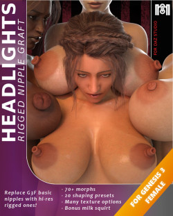 Give  your babes outstanding nipples… Two rigged hi-poly