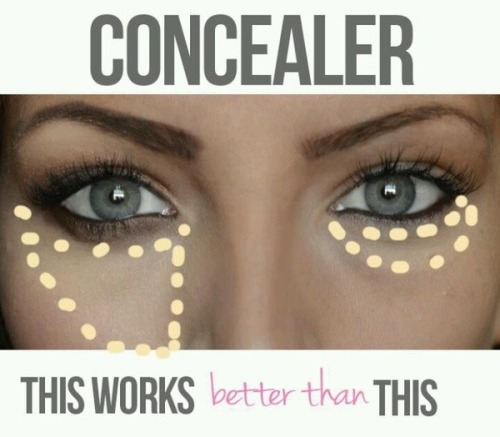 loveyourmakeup:  #Tip for applying #concealer.   #makeup #doha