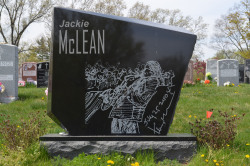 Gravesite - Jackie McLean, 1931 - 2006 - Jazz Alto Sax Player and Educator - Woodlawn Cemetery - Bronx, NY photo (c) Alan Strauber (all rights reserved) 4.28.13