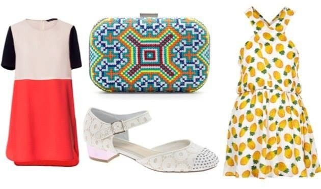 Want this clutch and the pineapple dress…ASAP…  luckymag.com