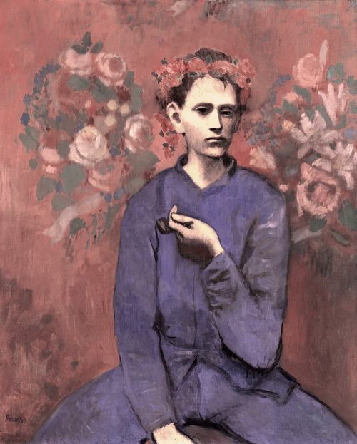 likeafieldmouse:  Pablo Picasso - Boy with Pipe (1905)