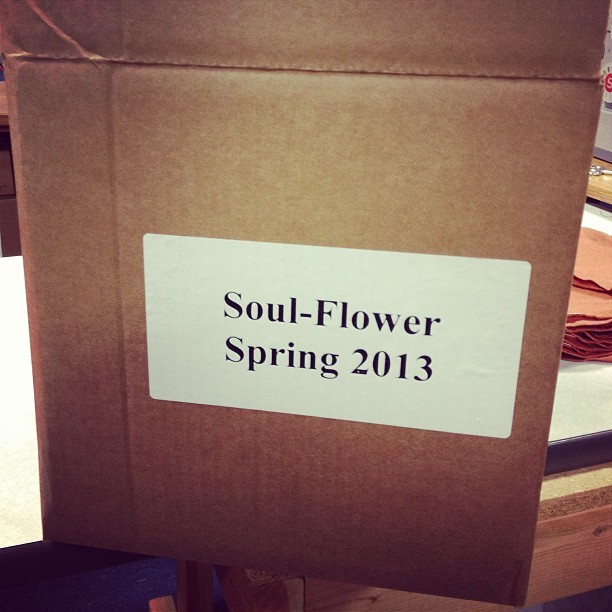 In house! #awesome #soulflower #springcatalog #organicfashion (at Soul Flower)
