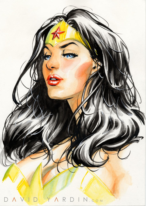 davidyardin:  Wonder Woman watercolour painting final