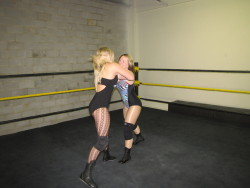 Leah Von Dutch vs Nevaeh http://nefemalewrestling.com