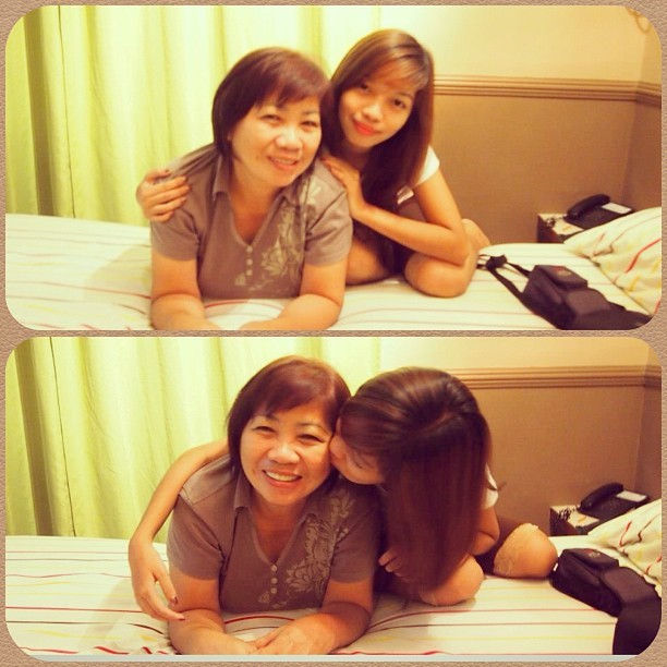 I Love you to the moon and back, MAMI CHING! Happy Mother's Day! 😘👩 #mom #love #happymothersday #blessing #GodsGift #daughter #igdaily #instadaily #instacollage