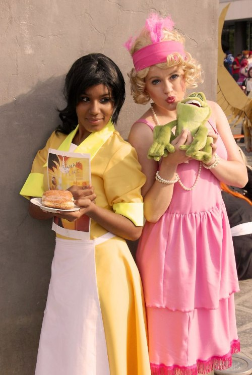 cosplayingwhileblack:  X Characters: Princess Tiana & Charlotte Series: The Princess and The Frog