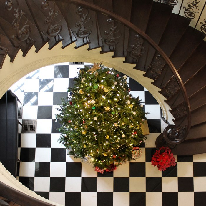 Christmas tree in Atlanta's historic Swan House.