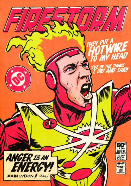 thisgreencity:  gorgonetta:  [Comic book covers: post-punk musicians as superheroes] butcherbilly:  The Post-Punk / New Wave Super Friends by Butcher Billy Click here to get art prints and t-shirts at society6.   always reblog