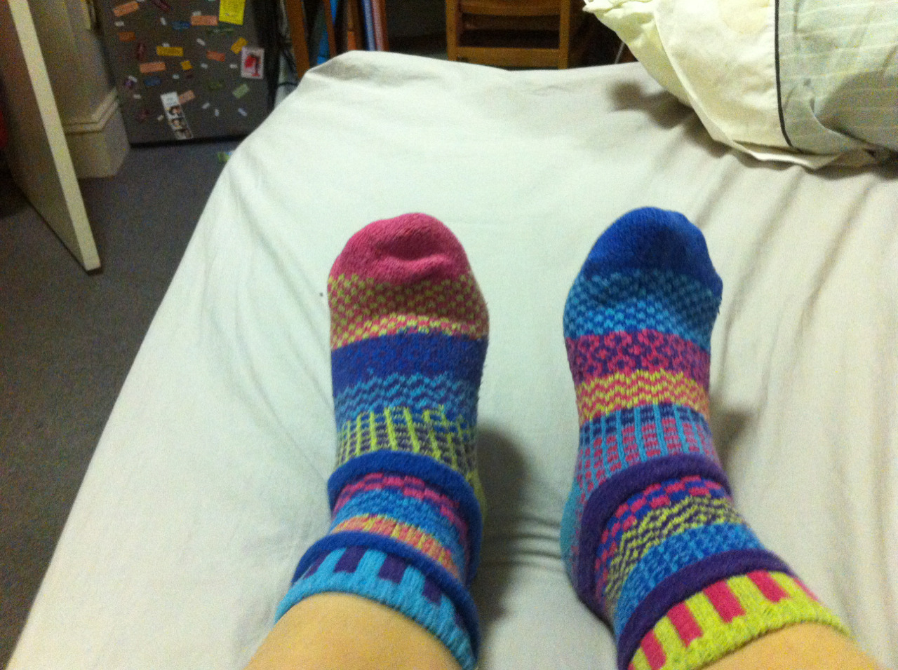 Today is a fun socks day.