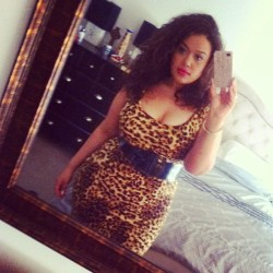 Pretty sure a girl with a lot of hair and a lot of body in a leopard dress is too much for a Tuesday daytime event. Ohhhh well! 