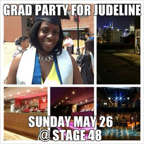 Sunday May26th Memorial weekend come celebrate with me at & friends at Stage forty8 605 West 48th St. ( 11th ave) New York, Ny Hit me up for tickets 862-224-1573
