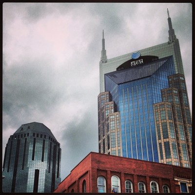Evil robot on the right, minion/side kick on the left. #nashville #architecture #igersusa #igers_usa