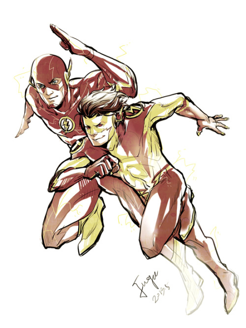 fugeart:  N52 The Flash and Kid Flash