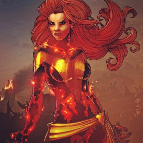 The Dark Phoneix #phoenix #darkphoenix #jean #JeanGray #xmen #marvelBabes #instahub #instagrammers