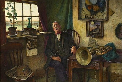 Charles Spencelayh Much Noise, Little Music Early 20th century