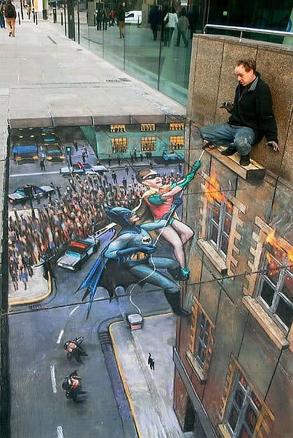 Mind Blowing Street Art! These pictures are incredible. #3 is unbelievable. Checkout them all Here: