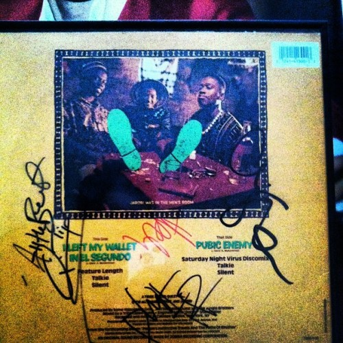 "#tbt #throwbackthursday #hiphop #nativeTounge #qtip #jarobi #phife #alishaheed #tribe #ATCQ #ATribeCalledQuest #vinyl #vinylclub #vinylrecords #records #recordoftheday #TheUmmah #ILeftedMyWalletInElSegundo One of my favorite pieces of wax I own. 1st Tribe Called Quest single ""I left My wallet in el segundo"" Signed by all 4 original members Phife, Jarobi, Ali, & Q-Tip #HipHopNerd #Backpacker #EastCoast"