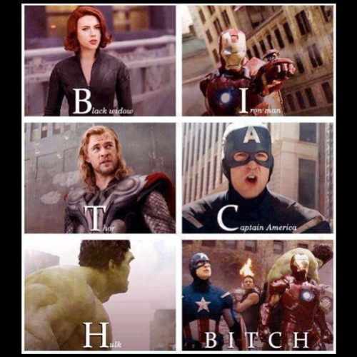 #theavengers #bitch