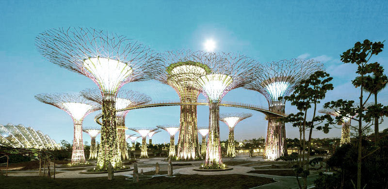 Digital trees of light - solar power lighting up Singapore - http://goo.gl/4slK5
