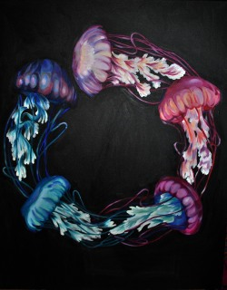 eatsleepdraw:  JellyFishin' new work :)More of my art on my tumblr…www.meandmycatillustrations.tumblr.com   :)))) so many likes and reblogs, thankyou alll.