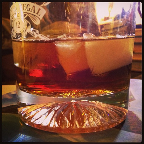 Night and Day Ingredients: 3/4 oz each of rye, sweet vermouth, and brandy, 1/2 oz maple syrup, 1 dash Peychaud's bitters and 1 dash Angostura bitters. Stir with ice and strain into a glass over ice. Source: Mr. Boston Honestly, I don't remember anything about this cocktail. But considering I switched out most of the ingredients for something else, maybe I don't have the right to judge it anyway. I have a feeling it was probably too strong for me.