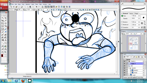 And, what am I up to this week? Again, Inking stuff! New page, but same credits as last time.