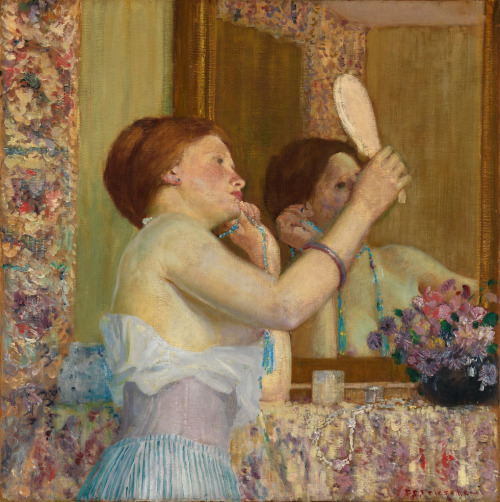 (via Frederick Carl Frieseke - Woman with a Mirror [1911] | Gandalf's Gallery)
