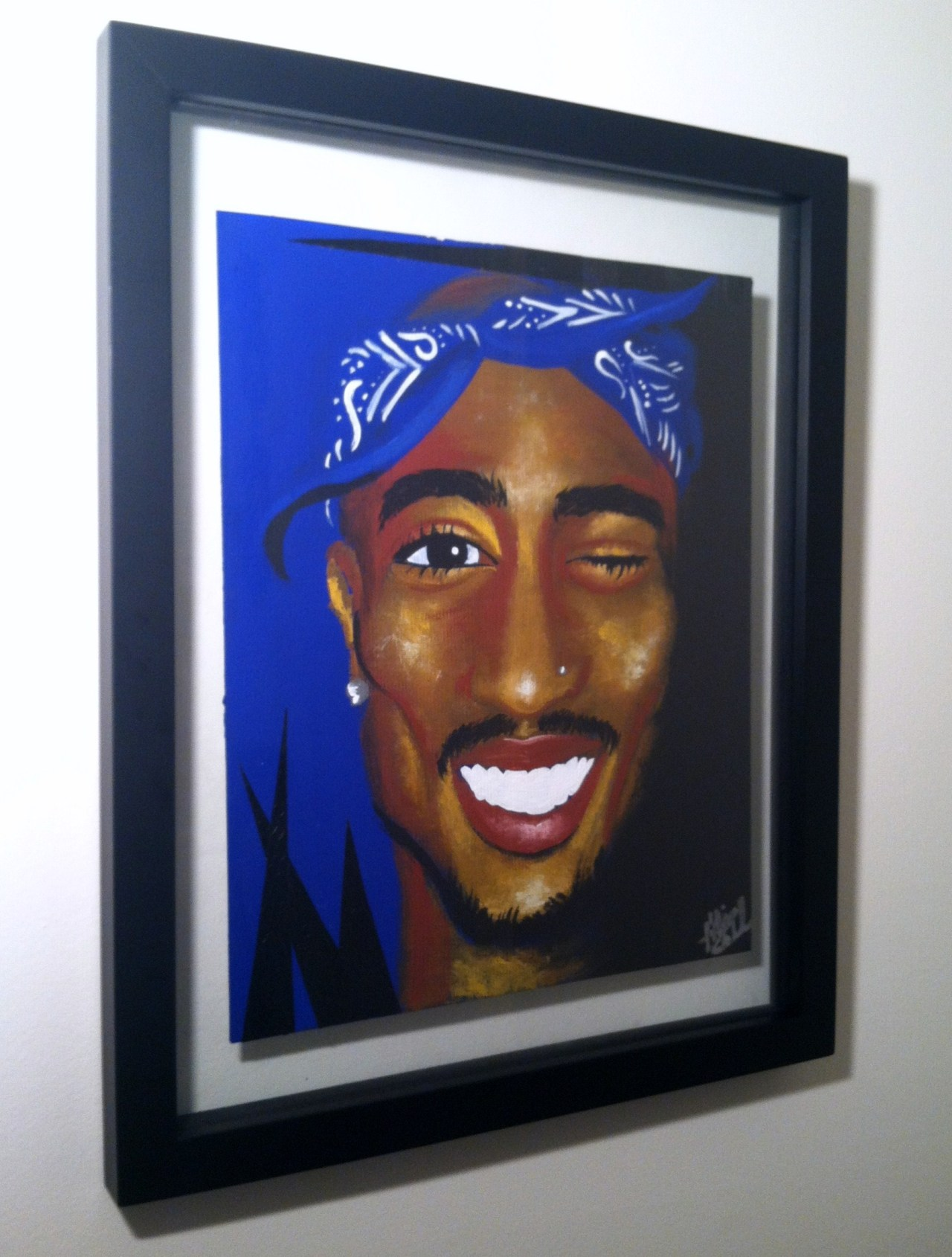 "panic-paisley:  #Tupac fine art prints for sale at addart.bigcartel.com !  11""x17"". hand signed, numbered, and dated prior to ship!   #BlackArtistsNetwork  follow here !"