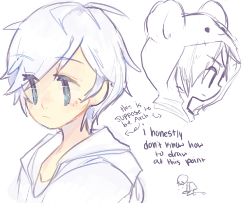 cloudy-dormir:  addition birthday sketches for kuroidsorry i can't draw atm u-u  Ahhhh, cutey \o/! Thankkk you, Sandddyyy! and pft, it looks good ;w;