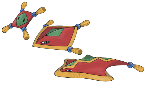 fakemon:  FlyCarpet Pokemon by ~JoshKH92