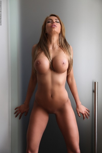 Nude blonde with nice tits
