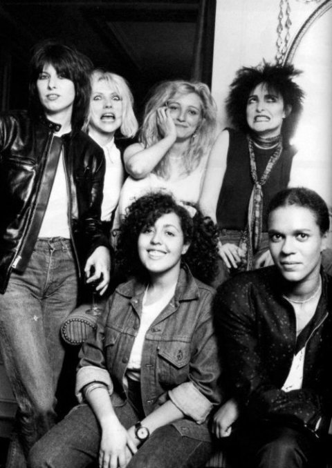 Legends Chrissie Hynde, Debbie Harry, Viv Albertine, Siouxsie Sioux, Poly Styrene, and Pauline Black source: feminema