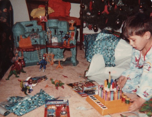 "Christmas morning in the early 1980's- there is a certain nostalgia that I confuse with ""holiday spirt"" although I can always conjure up some warming nostalgia by looking at old family pictures, trying to conjure up the ""holiday spirit"" isn't as easy though…."