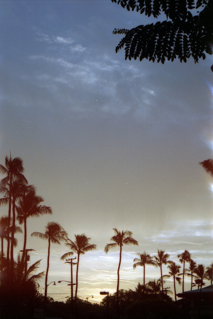 16 on Flickr.Hawaii sunsets. Canon a1. Expired Fuji 100.