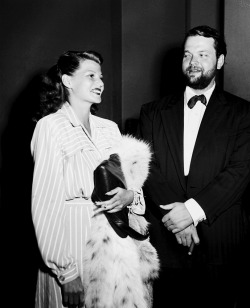 Rita Hayworth and Orson Welles in 1945.