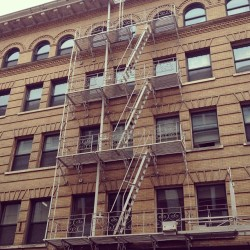 Portland has many old buildings downtown that have these old fire escapes…they completely fascinate me for some reason.