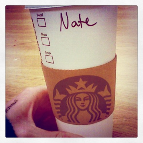 #sorethroat #crappyday #amazingbf @nateallnight brought me #starbucks #chai #tea I love my boyfriend! <3