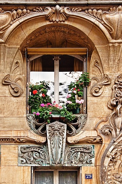Art Nouveau window detail