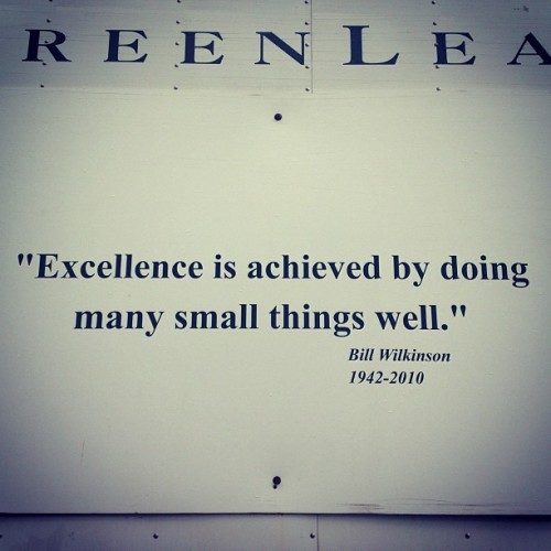 Striving for excellence.