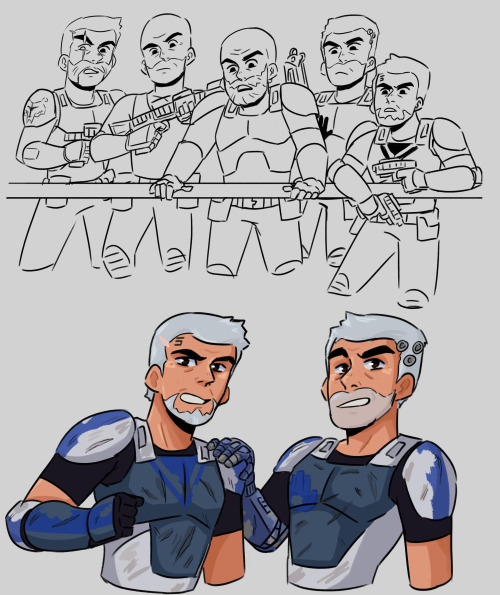 What is Fives and Echo were in Rebles..I gave Echo a hand. I also drew him in his arc armor but whatever. #Clone Wars #The Clone Wars #star wars #star wars rebels #captain rex#commander cody#Commander Wolffe #star wars gregor  #arc trooper fives  #arc trooper echo #clones#the boys #I wanted cody in rebles  #where was my rex and cody reunion