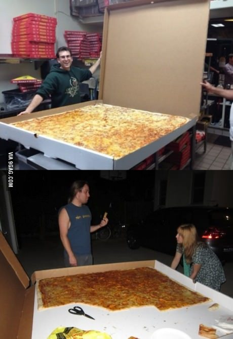 fuckyeahfatvegans:  snarfysees:  fuckyeahlaughters:   World's largest pizza box serves up to 70 people   More like 1 people.