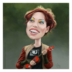 Amanda Palmer and Her Magical Ukulele by O-G-Ninja