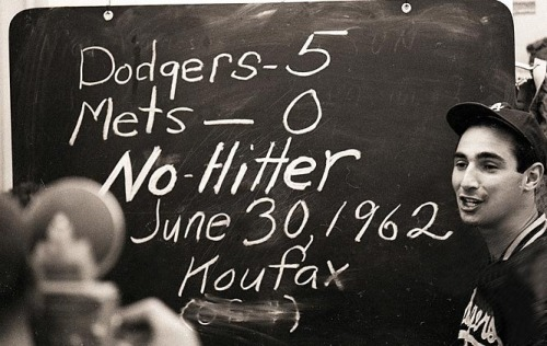 randombaseball:  Sandy Koufax, post no-hitter.  'Nuff said