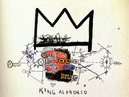 I will be there! blackcontemporaryart:  Basquiat @ Gagosian Gallery FEBRUARY 7 - APRIL 6, 2013  555 West 24th StreetNew York, NY 10011Opening Reception: Thursday, February 7th, from 6:00 to 8:00pm  It's about 80% anger.—Jean-Michel Basquiat Gagosian Gallery is pleased to announce a major exhibition of works by Jean-Michel Basquiat. Featuring over fifty works from public and private collections, the exhibition spans Basquiat's brief but meteoric career, which ended with his death at the age of twenty-seven. Thirty years after Larry Gagosian first presented his work in Los Angeles, twenty years after the first posthumous survey at the Whitney Museum of American Art (1992–93), and eight years after the Brooklyn Museum of Art retrospective (2005), viewers will have a fresh opportunity to consider Basquiat's central role in his artistic generation as a lightning rod and a bridge between cultures. READ MORE  Image: Jean-Michel Basquiat, King Alphonso (?), 1983