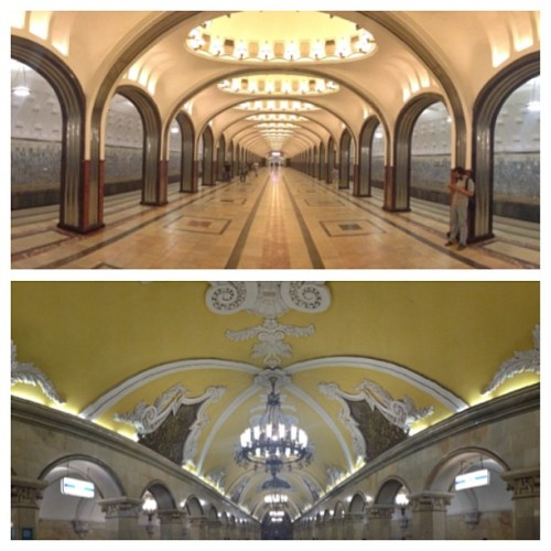 Most amazing Moscow Metro stations (and we visited at least 10!) / on Instagram http://bit.ly/17eksm1
