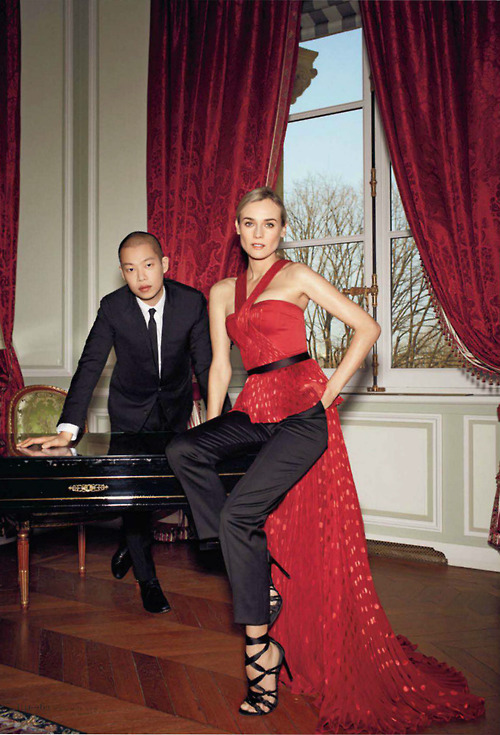 fuckyeahhotactress:  Jason Wu and Diane Kruger, photographed by Pierre Bailly for ELLE, June 2013.