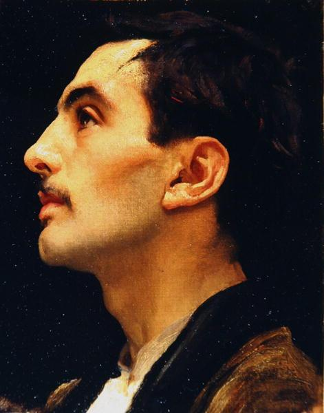 Frederic Leighton, c.1855, Head of an Italian Model