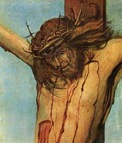 denisforkas:  Albrecht Altdorfer - Christ on the Cross between Mary and St.John (detail). 1512