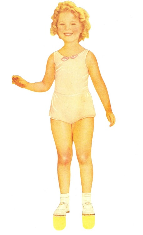 Shirley Temple paper doll, 1930s.