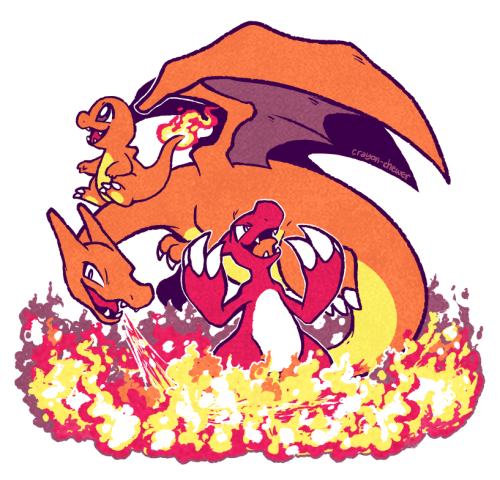 crayonchewer:  These fire lizards like it HOT
